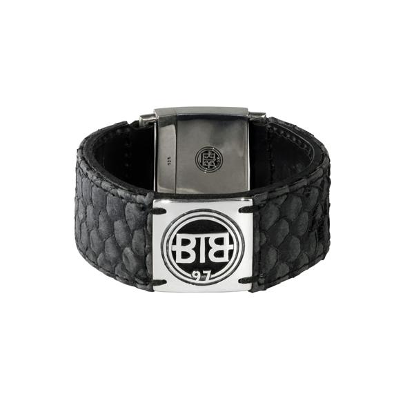 BTB Tilapia Black Leather Bracelet 625BL - L
