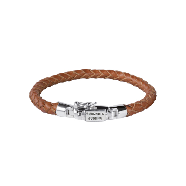 BTB Ben Cognac Leather Bracelet 19cm