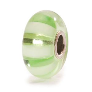 Trollbeads Light Green Stripe Bead