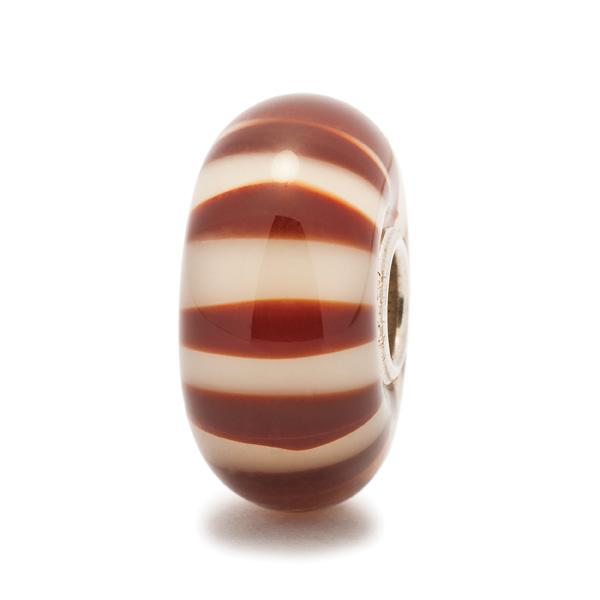 Trollbeads Chocolate Stripe Bead *Retired*