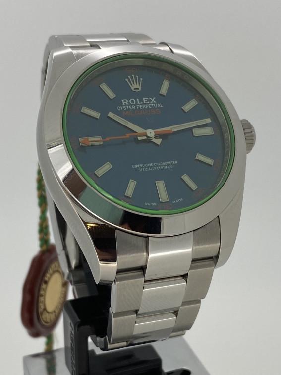 Rolex Milgauss Blue 116400GV Pre-owned Watch