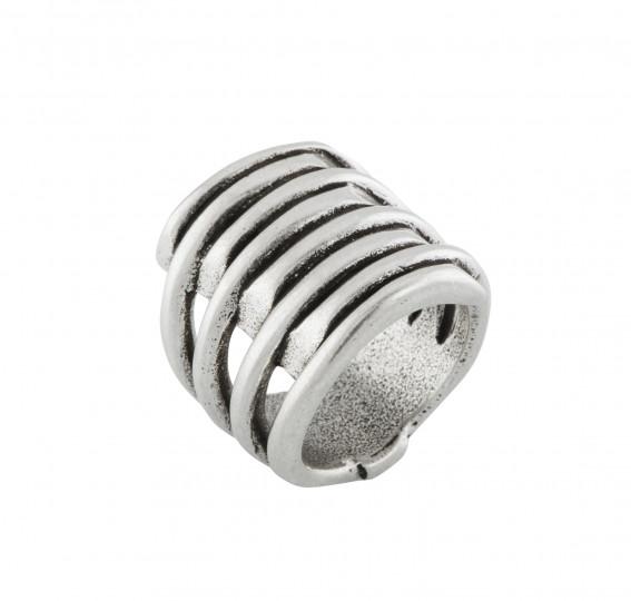 UNO de 50 TORNADO Ring - Silver
